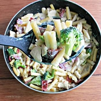 Chicken Bacon Ranch Pasta Skillet