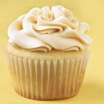 Vanilla Almond Cupcakes with Salted Caramel Buttercream