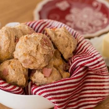 Ham and Cheese Yogurt Biscuits