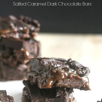 Salted Caramel Dark Chocolate Bars