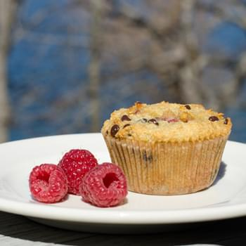 Gluten-Free Raspberry Chocolate Chip Muffins