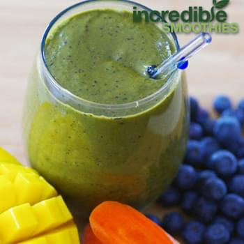 "Blueberry-Mango ""Mega-Carotene"" Green Smoothie"