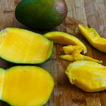 Low Sugar Mango Sorbet (without an ice cream freezer)