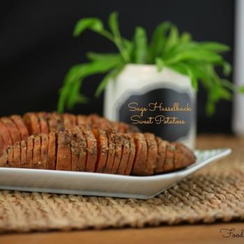 Sage Hasselback Sweet Potatoes