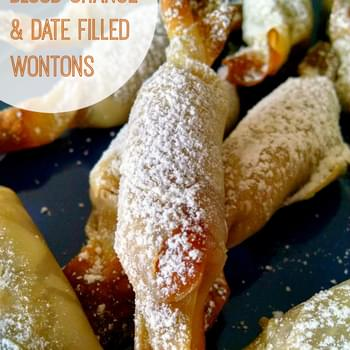 Blood Orange Date Filled Wontons