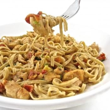 Cajun Chicken Linguine Alfredo, Skinnyfied