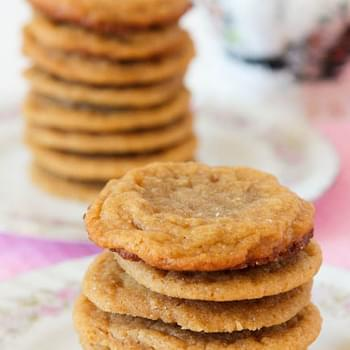 Flourless Peanut Butter Cookies (Gluten Free, with Vegan Option)