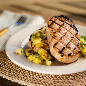 Grilled Pork Chops and Pineapple Salsa