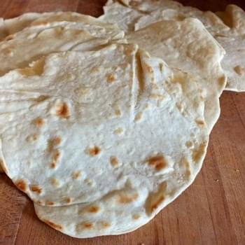 Easy Homemade Flour Tortillas - White or Wheat
