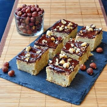 Soft and Chewy Hazelnut Bars