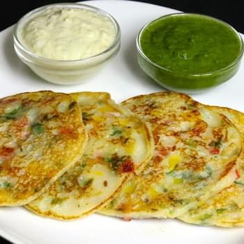 Bread Uttapam, South Indian Snack