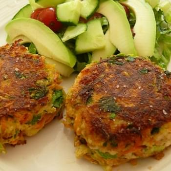 Halloumi and Courgette Herb Cakes