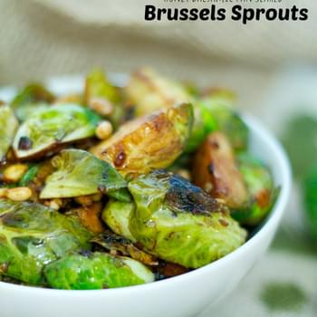 Honey Balsamic Pan Seared Brussels Sprouts