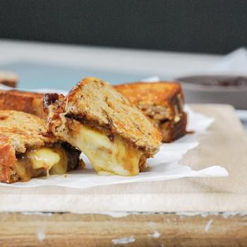Grilled Cheese with Fig Butter and Apple