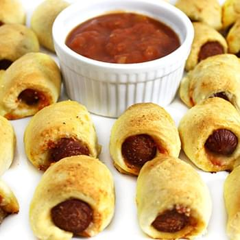 Skinny, Pizza Flavored Pigs in a Blanket