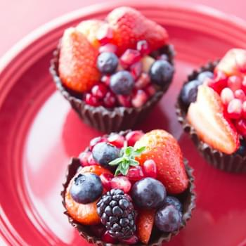 Dark Chocolate Berry Cups