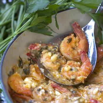 Greek-style Garlicky Shrimp with Feta