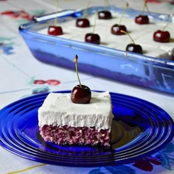 Cherry-Almond Poke Cake