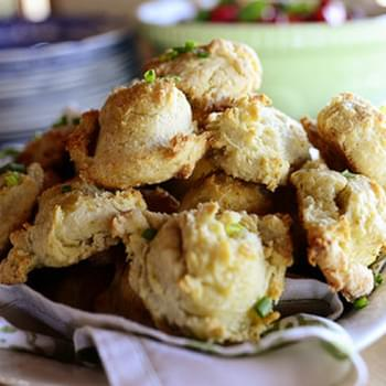 Cheddar-Chive Drop Biscuits