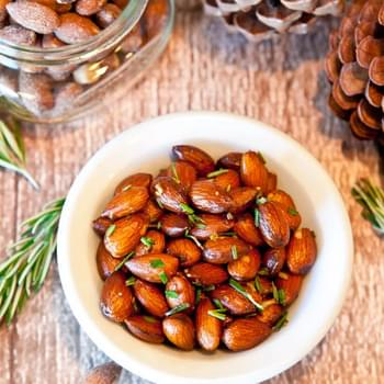Rosemary Chipotle Roasted Almonds (Vegan; Gluten, Soy, & Dairy Free)
