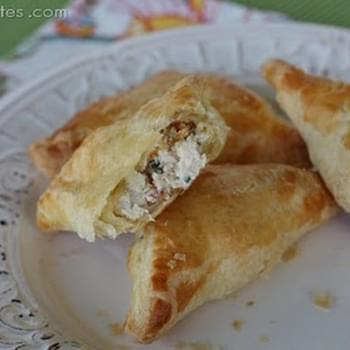 Creamy Chicken and Bacon Pastry Pockets