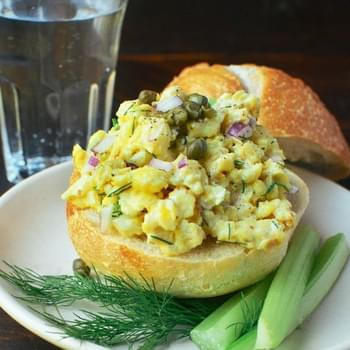 Quick, Easy Scrambled Egg Salad