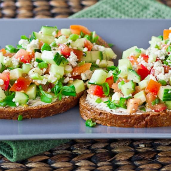 Open Faced Veggie Sandwiches