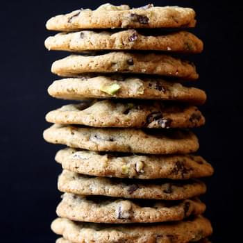 Dark Chocolate, Pistachio & Smoked Sea Salt Cookies