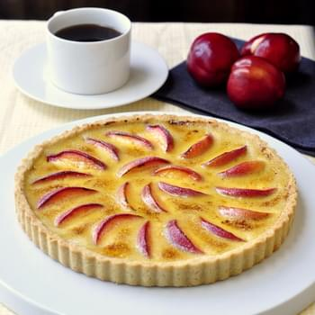 Summer Fruit Creme Brulee Tart