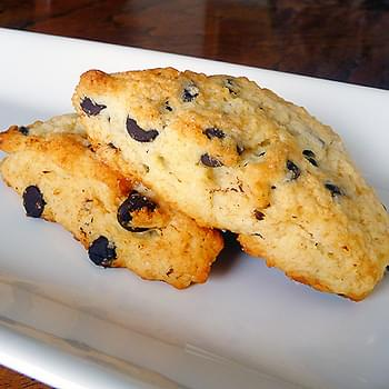Dark Chocolate Chip Scones