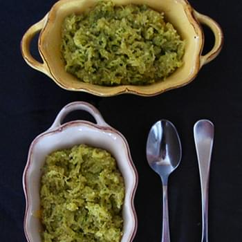 Spaghetti Squash with Arugula Walnut Pesto