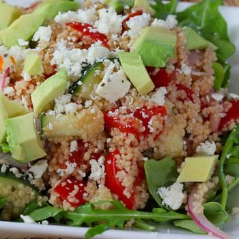 Greek Couscous Salad with Avocado