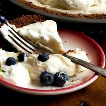 Lemon-and-lime Icebox Pie With A Chocolate Graham-cracker Crust