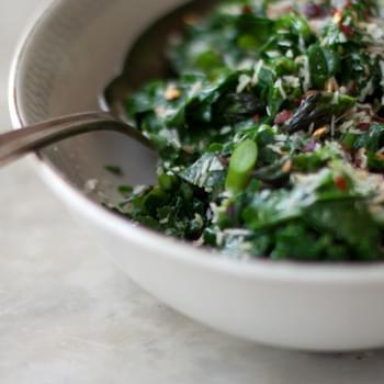 Spiced Coconut Spinach