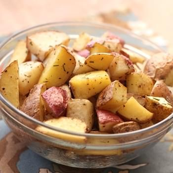Perfectly Simple Rosemary Roasted Potatoes