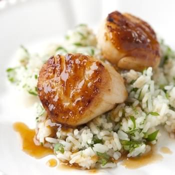 Scallop with Apricot Sauce