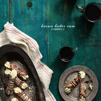 Brown Butter Rum Cannoli