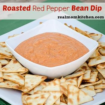 Easy Roasted Red Pepper Bean Dip