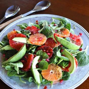 Winter Citrus Salad with Poppy Seed Dressing