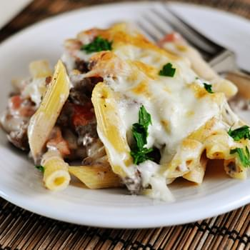 Delicious Greek Pastitsio {Casserole-Style}