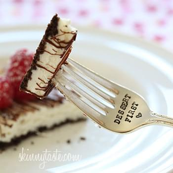 Skinny Chocolate Raspberry Cheesecake