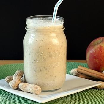 Apple, Peanut Butter, Cinnamon Oatmeal Smoothie