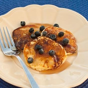 Silver Dollar Blueberry Sour Cream Pancakes