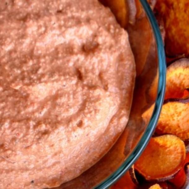 Superbowl Snacks: Roasted Red Pepper Dip