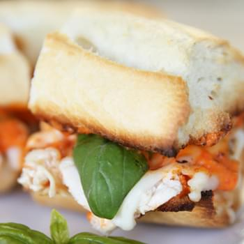 Italian Chicken Sandwiches with Roasted Red Pepper Sauce