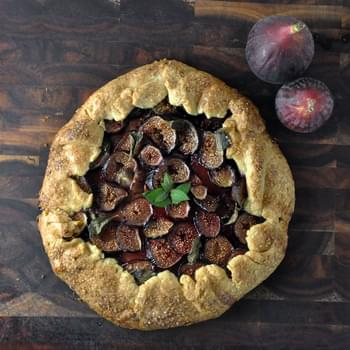 Fig, Mint and Honey Galette