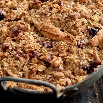 Apple and Cranberry Crisp