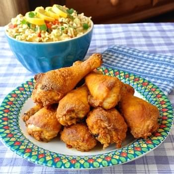 Barbecue Spice Oven Fried Chicken