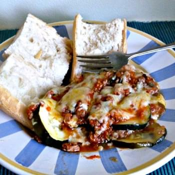 Layered Zucchini with Ground Turkey and Fresh Tomatoes