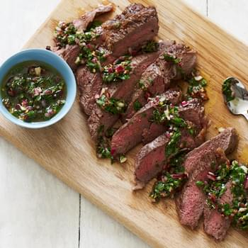 Grilled Steaks with Chimichurri